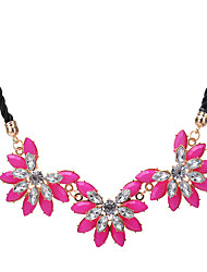 Women's Statement Necklaces Flower Acrylic Unique Design Floral Jewelry For Party Daily Casual
