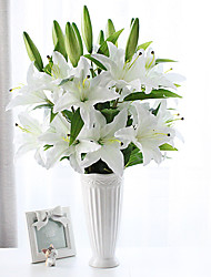 1 Branch Silk Lilies Tabletop Flower Artificial Flowers