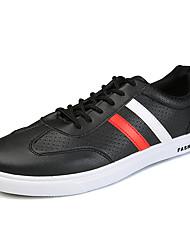 Men's Sneakers Spring Summer Fall Winter Comfort PU Office & Career Athletic Casual Hook & Loop Lace-up Running