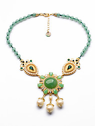 Women's Strands Necklaces Round Chrome Personalized Luxury Light Green Jewelry For Wedding Congratulations 1pc