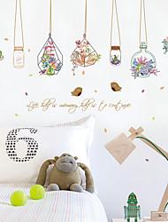ботанический Мода Цветы Наклейки Простые наклейки Декоративные наклейки на стены,Бумага материал Украшение дома Наклейка на стену