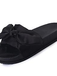 Feminino-Chinelos e flip-flops-Conforto-Rasteiro--Seda-Casual