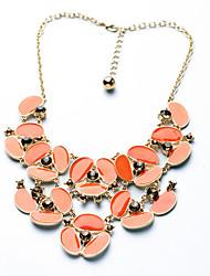 Women's Strands Necklaces Geometric Chrome Unique Design Purple Orange Jewelry For Gift Daily 1pc