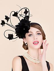 Pluma Diamantes Sintéticos Celada-Boda Ocasión especial Casual Tocados Sombreros 1 Pieza