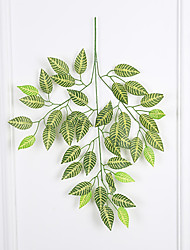 1 pc High Quality Striped Leaves Green Plants for Wedding Home Decor