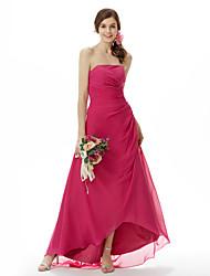 LINARIA - Vestido de Fiesta de boda o de Dama de honor de Gasa y Satén