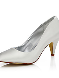 Women's Dyeable Wedding Shoes Fall Winter Comfort Club Shoes Silk Wedding Outdoor Office & Career Dress Party & Evening Cone Heel