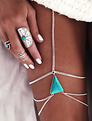 Women's Body Jewelry Body Chain Leg Chain Fashion Vintage Bohemian Hip-Hop Handmade Turkish Gothic Costume Jewelry Turquoise Alloy