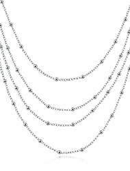 XU Women's Fashion Popular Beads Chain Necklace