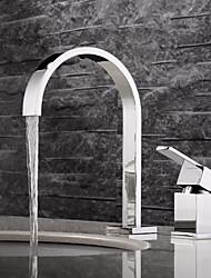 Contemporain Diffusion large large spary with  Soupape céramique Deux poignées Deux trous for  Chrome , Robinet lavabo