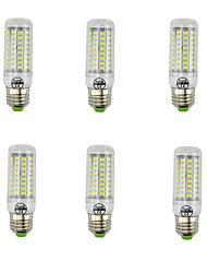 6pcs Smart IC SMD5730 89Led E27 LED Corn Lights Warm Cool White Decorative Corn Bulb lampada led Lamps AC220-240V