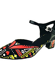 Women's Girl's Latin Ballroom Tango Dance Shoes Leatherette Modern Sandals Heels Heel Performance Customizable