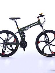 Горный велосипед Складные велосипеды Велоспорт 27 Скорость 26 дюймы/700CC 50мм Мужской Унисекс Взрослый Shimano Двойной дисковый тормоз
