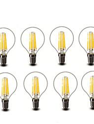 4.5W E14 E27 Ampoules à Filament LED G45 6 COB 600 lm Blanc Chaud Décorative AC220 AC230 AC240 V 8 pièces