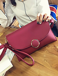 Women PU Casual Event/Party Clutch Violet Green Ruby Black