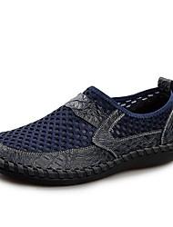 Herren-Sandalen-Lässig-Leder-Keilabsatz-Komfort-Schwarz Dunkelblau Braun