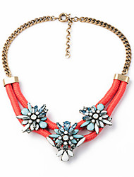 Women's Pendant Necklaces Flower Chrome Unique Design Jewelry For Gift Daily