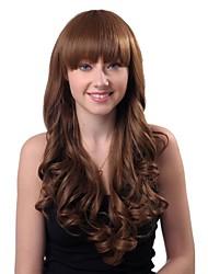 Long Deep Wavy Wig Brown Women Wig Natural Wigs Wigs for Women Costume Wigs Cosplay Wigs