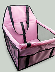 Cat Dog Car Seat Cover Dog Pack Pet Carrier Portable Double-Sided Breathable Foldable Massage Soft Tent Solid Blushing Pink Gray