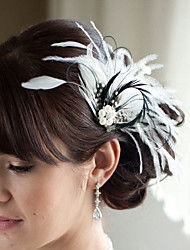 Hand Made Wedding Feather Hair Fascinator Headpieces Fascinators Headbands Hair Accessories Feather Wigs Accessories For Women 017