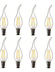 ® Shenmeile 3.5w E14 LED Candle Lights CA35 4 COB 400 lm Warm White Decorative AC 220-240 V 8 pcs
