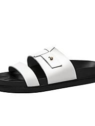 Herren-Slippers & Flip-Flops-Lässig-PULeuchtende Sohlen-Weiß Schwarz