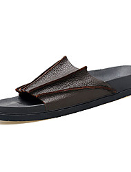 Men's Slippers & Flip-Flops Summer Comfort PU Outdoor Flat Heel