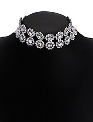 New Women's Choker Necklaces Two Layers Diamond Star Alloy Unique Design Bikini Jewelry For Wedding Party Daily Casual 1pc