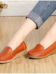 Chaussures de sport mocassins à ressort confort cuir décontracté