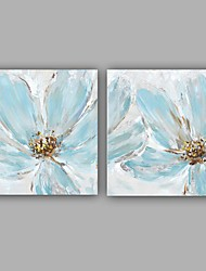 100%  Hand-Painted Abstract / Floral/Botanical Modern / Classic Two Panel Canvas Oil Painting For Home Decoration