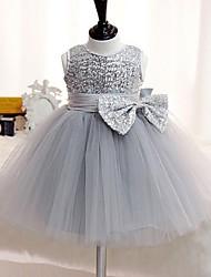 robe de bal courte / mini robe de fille de fleur - Organza sans manches cravate avec sequin par jnm
