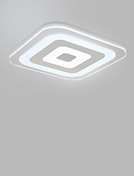 Modern LED Acrylic The Bedroom Light Stepless Dimming Sitting Room Lights Remote Control Included Square 42x42cm