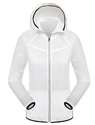 Women's Raincoat/Poncho Tops Camping / Hiking Fishing Cycling/BikeWaterproof Windproof Rain-Proof Front Zipper Dust Proof Anti-Insect