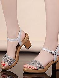 Damen-High Heels-Lässig-PUKomfort-Gold Weiß Silber