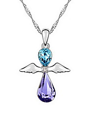 Women's Pendant Necklaces Jewelry Jewelry Gem Alloy Unique Design Fashion Light Blue Blushing Pink Yellow Jewelry ForParty Gift Daily