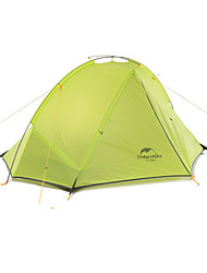 1 person Tent Double Fold Tent One Room Camping Tent Aluminium Nylon Silicone Foldable Portable-Camping Outdoor-Green