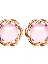 Boucles d'oreille goujon Zircon cubique A Fleurs Argent sterling Bijoux Pour Mariage Soirée Quotidien Décontracté 1 paire