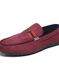 Men's Loafers & Slip-Ons Spring Summer Fall Winter Comfort Light Soles Fleece Leatherette Outdoor Office & Career Casual Flat HeelRibbon