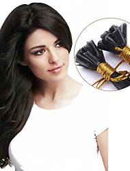 Wholesale Brazilian Hair Women Remy Nail Tip U tip Human Hair Extensions Straight 1g/s 100strands Pre-bonded Hair Color #2