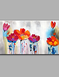 Hand-Painted Modern Flowers Panel Canvas Decorative Oil Painting Ready To Hang