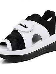 Damen-Sandalen-Lässig-Kunststoff-Keilabsatz-Komfort-