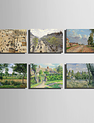 The Logicians Oil Painting Engraved Canvas Print Wall Art  Camille Pissarro 2 Multi Style Selection
