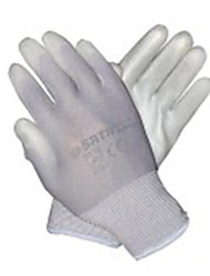 Sata 7 PU Gray Industrial Protective Gloves Palm Dip