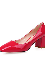 Women's Heels Spring Summer Formal Shoes Patent Leather Office & Career Party & Evening Dress Chunky Heel Blushing Pink Red Black