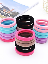 Seamless Hair Band Rubber Band Head Rope Simple Bold Towel Korean Jewelry Hair Rope 50 /1Box