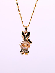 Women's Pendant Necklaces Animal Shape Chrome Cute Style Personalized Gold Jewelry For Congratulations Graduation Gift 1pc