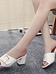 Damen Sandalen Fersenriemen PU Sommer Lässig Weiß Schwarz 2,5 - 4,5 cm