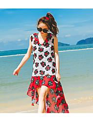 Women's Halter Tankini,Floral Polyester