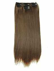 False Hair Extension 11 Clips Clip in Hair Extensions Synthetic Hair Apply Hairpiece 22 Long Straight Hairpieces D1020 4/30#