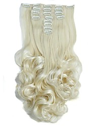 Synthetic Hair False Hair Extensions 20inch 150g Curly Hairpiece Heat Resistant Hair D1022 613#